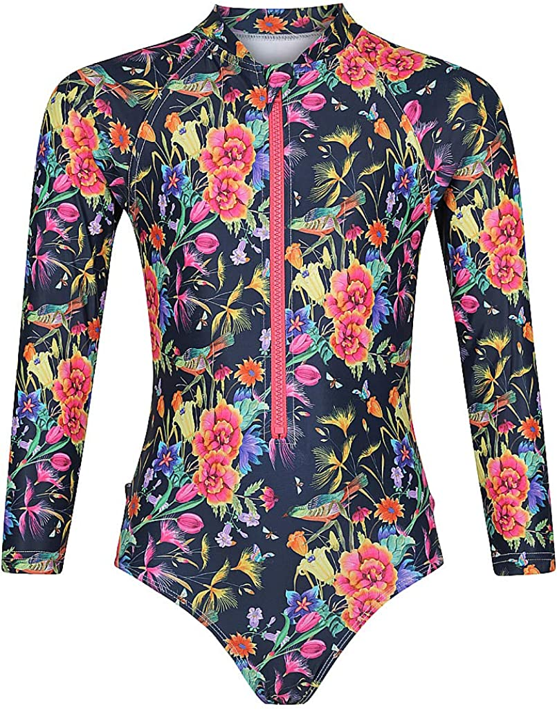Tame the shipfree Sun Long Sleeve Swimsuit UPF 50+ for Girls Daily bargain sale 3-12 Ages