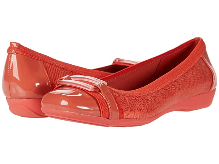 Anne Klein  Uplift Flat (Coral) Womens Shoes