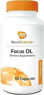 NeuroScience Focus DL - Cognitive Support 1000 mg Phenylalanine Dopamine + Norepinephrine Precursor (60 Capsules)