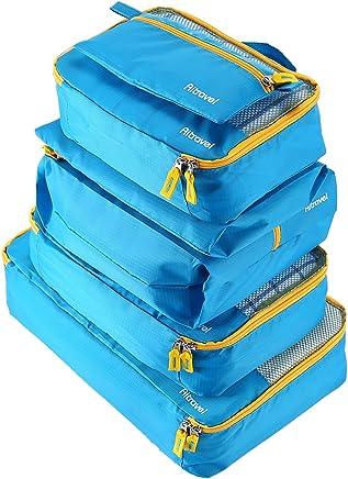 AIZBO 6 Set Packing Cubes Travel Luggage Organisers Suitcase Storage Bags (Blue) AIZBO 6 Set Packing Cubes Waterprooof Travel Luggage Organisers Suitcase Storage Bags