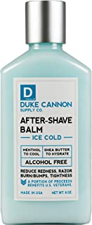 Duke Cannon Ice Cold After-Shave for Men, 6 fl oz/Alcohol-Free, Paraben-Free, Sulfate-Free