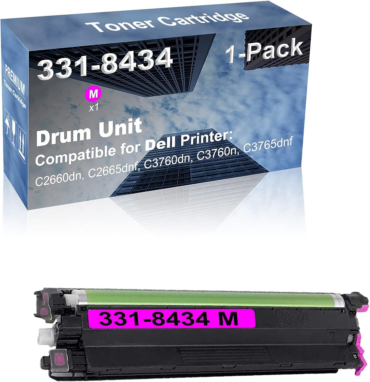 1-Pack (Magenta) Compatible High Capacity 331-8434M Drum Unit Used for Dell C2660dn, C2665dnf, C3760dn, C3760n, C3765dnf Printer