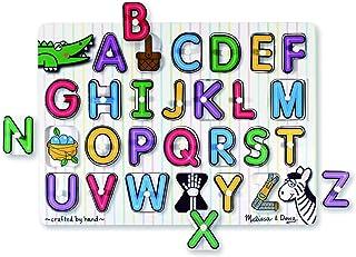 Melissa & Doug 3272 See-Inside Alphabet Wooden Peg Puzzle (26 pcs)