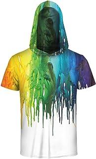 HOP FASHION Unisex Short Sleeve Print Hoodie Vest Tank Tops