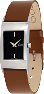 Moog Paris Classic Women's Watch with Silver/Black/White Dial, Brown/Blue/Pink/Beige/White Strap in Genuine Leather