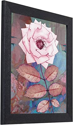 Amazon Brand - Solimo Pastel Flowers with Frame, Set of 3