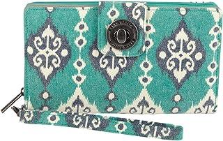 Bella Taylor Canvas Wristlet Cash System Wallet, Lanai
