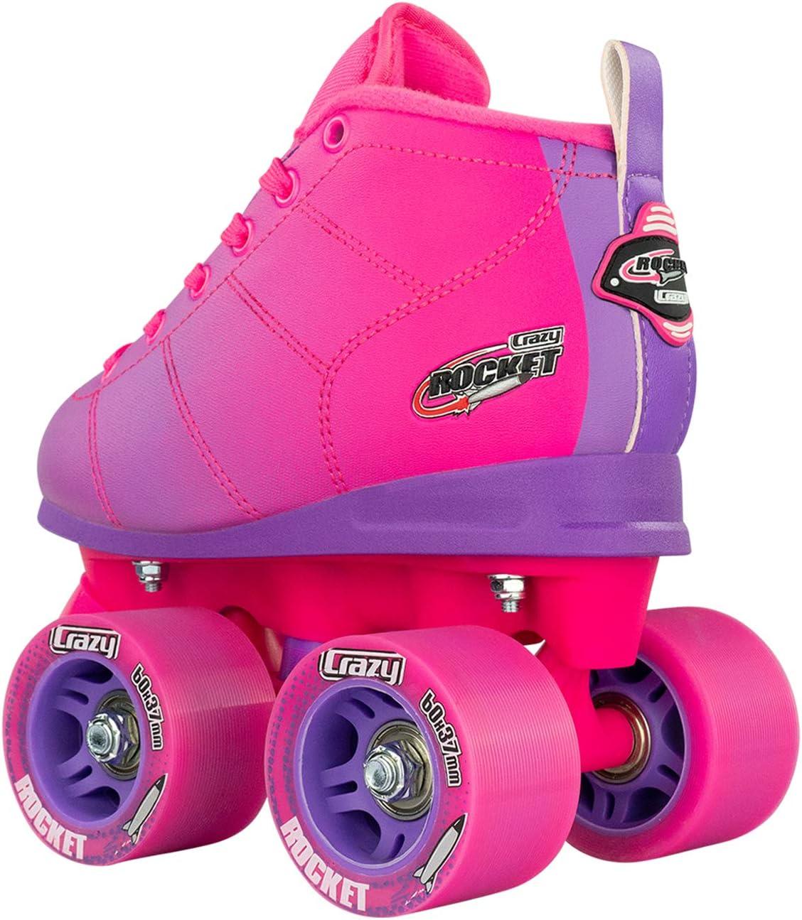 Available in Two Crazy Skates Rocket Roller Skates for Girls and Boys Great Beginner Kids Quad Skate