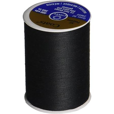 COATS Dual Duty All-Purpose Thread, 400 Yards/1 Spool of Yarn, Black