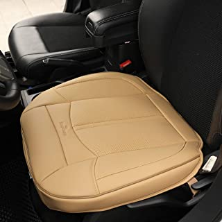 KINGLETING Car Seat Covers Without Backrest,Suitable for All Seasons of Large and Medium-Sized Cars(1 Pcs,Beige)