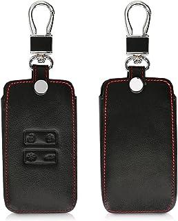 kwmobile Carcasa Compatible con Renault Llave de Coche Smart Key de 4 Botones (Solo Keyless Go) - Funda de Cuero sintético...