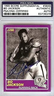 Bo Jackson Autographed 1989 Score Supplemental Card #384S Oakland Raiders Stock #86768 - PSA/DNA Certified