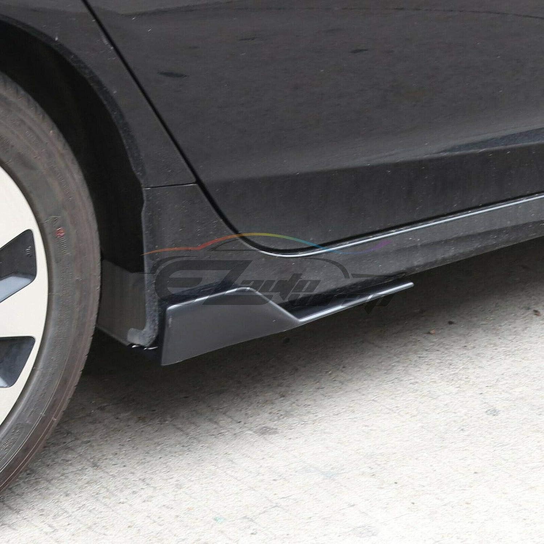 EZAUTOWRAP Gloss Black Universal Car Side Skirt Extension Splitters Winglet Wing Canard Rocker Panel Body Kit Car Diffusers Accessories Left//Right