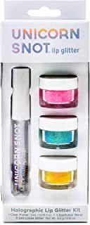 Unicorn Snot Vegan and Cruelty Free Lip Glitter Kit, 5 Pieces