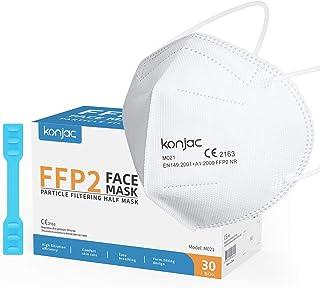 konjac Mascarillas FFP2 homologadas 2163 (30 unidades) Cinco capas Mascarillas Faciales Según Norma Europea EN 149:2001+A...