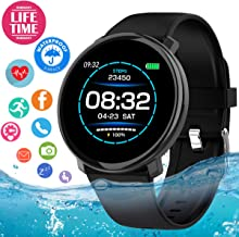 Fitness Tracker Smart Watch, Waterproof Fitness Watches with Heart Rate Monitor, Activity Tracker Watch Sport Smart Bracelet with Pedometer Sleep moinitor Calorie Counter for Women Men Android iOS