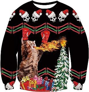 4c6dea11d AIDEAONE Unisexo Navidad Sudadera Camiseta de Manga Larga de Navidad S-XXL
