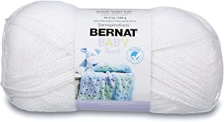 Bernat Big Ball Baby Sparkle Yarn - (3) Light Gauge 100% Acrylic - 10.5oz - White - Machine Wash & Dry