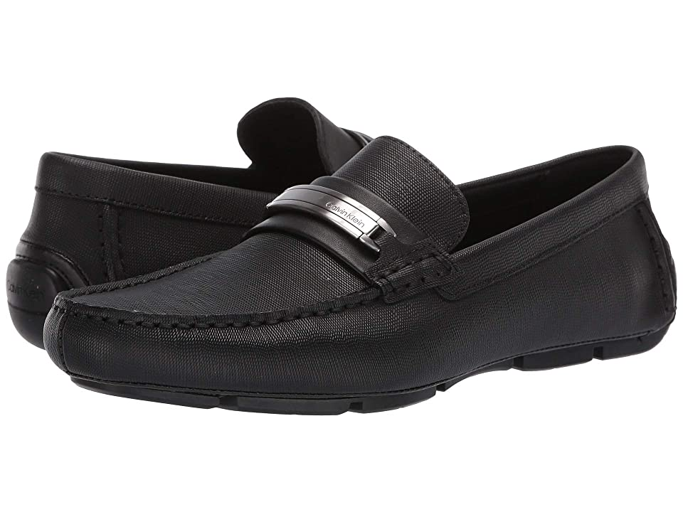 Calvin Klein Kolton (Black Hatched Embossed Leather) Men