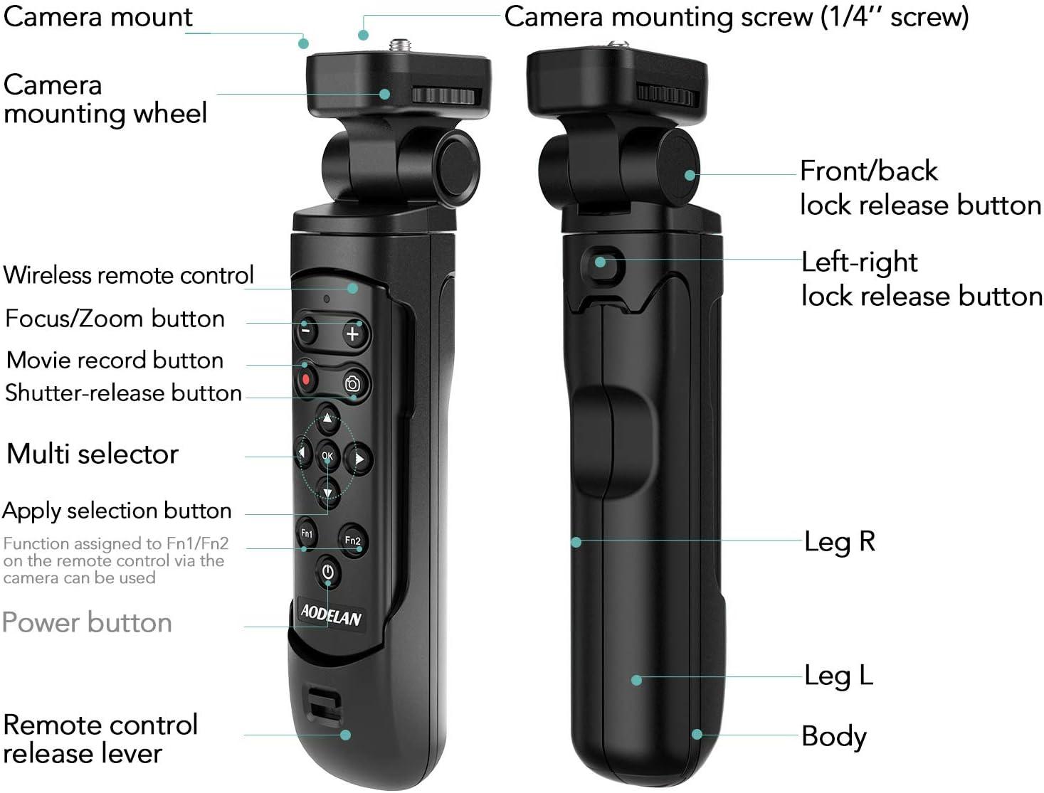 Handle Shooting Grip Tripod with BR-E1B Shutter for Canon EOS R RP R5 R6 90D M50 SL2 PowerShot SX70 HS Cameras AODELAN Mini Camera Tripod Replaces Canon HG-100TBR