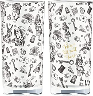 V&a Alice In Wonderland Set Of 2 Highball Glasses, 330ml, Gift Boxed
