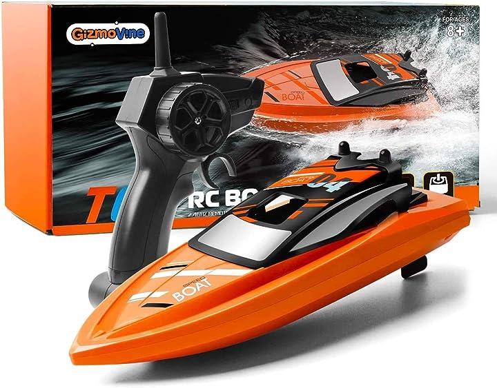 Barca telecomandata 2.4 ghz barca rc barca da corsa ad alta velocità giochi d`acqua estivi gizmovine B08GKPKYBK