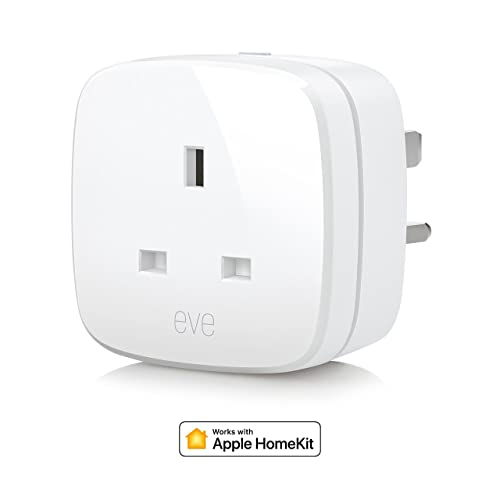 Eve Energy UK - - Smart Plug & Power Meter, switch a connected device on and off, voice control, no bridge necessary, Bluetooth Low Energy  (Apple HomeKit)