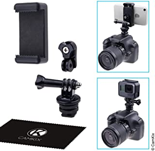 CamKix Blitzschuhadapter Set   Befestigt Ihr Telefon oder Ihre Aktion Kamera an der Blitzhalterung Ihrer DSLR Kamera