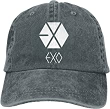 Kemeicle Unisex Exo Logo Hats Adjustable Washed Baseball Caps Snapback
