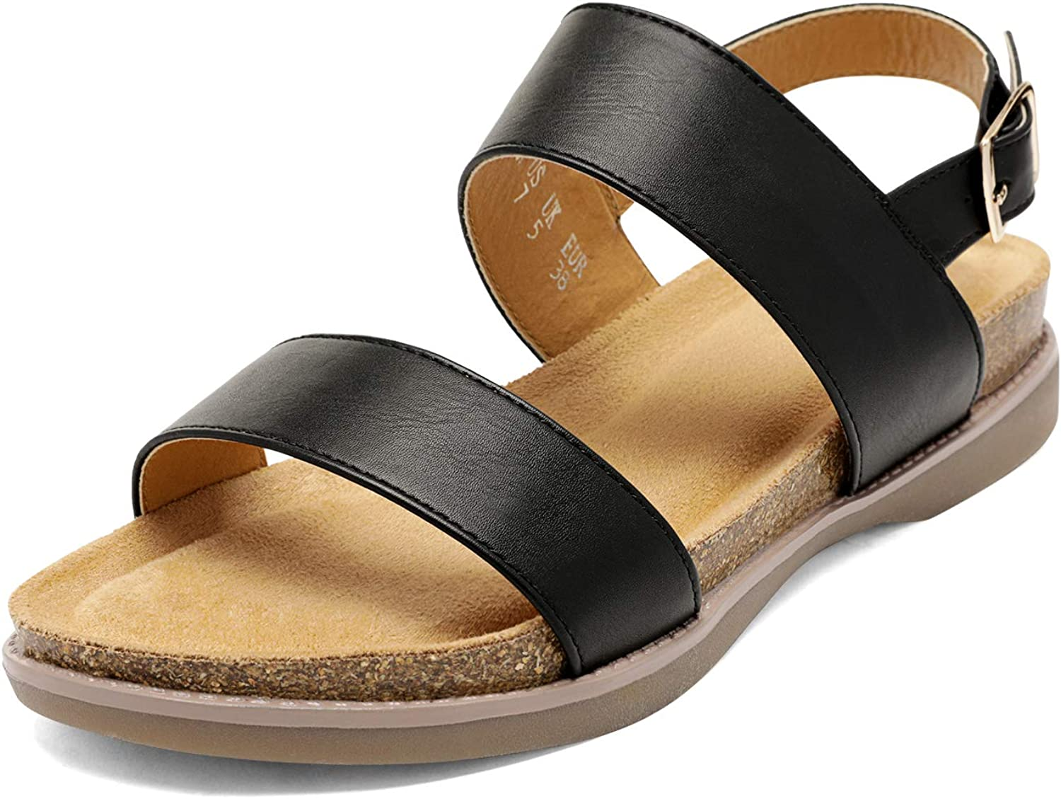 DREAM PAIRS Women's One Band Fixed price for sale Flat Ankle Strap Soft Sandals Portland Mall