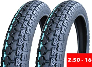 MMG Set of 2 Tire 2.50-16 (P43) Front/Rear Motorcycle Dual Sport On/Off Road