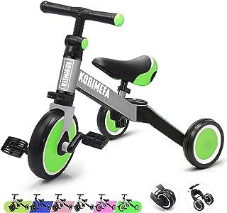 KORIMEFA 3 in 1 Kids Trike for Children 1-3 Years Old Kids Tricycle Boys Girls Baby Balance Bike 2 Wheels for Toddlers Tri...