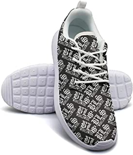 Yang-C Womens Walking Athletic Shoes Black-Label-Society-shot-to-hell2- Comfort Casual Sneaker Trail Running Shoe