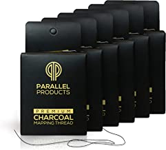[NEW 15M BOXES] Parallel Products – (6 Pack) Premium Eyebrow Mapping String for Microblading – Pre-Inked – 1 mm Fine Bamboo Charcoal Thread – 15 Meters/48 Feet per Box
