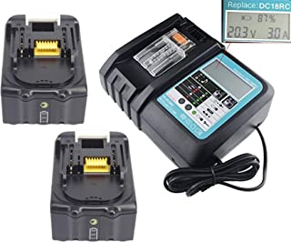 Hochstern 7A DC18RC Chargeur Rapide pour Makita 14.4V ~ 18V Bl1860 Bl1850 BL1840 Bl1430 DC18RA DC18RF DC14SA DC18SC BL1860B BL1850B