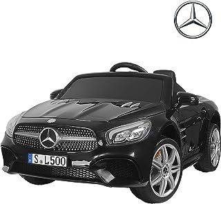 Uenjoy 12V Licensed Mercedes-Benz SL500 Kids Ride On Car Electric Cars Motorized Vehicles for Kids, Remote Control, Music, Horn, Spring Suspension, Safety Lock, Black
