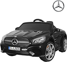 Uenjoy 12V Licensed Mercedes-Benz SL500 Kids Ride On Car Electric Cars Motorized Vehicles for Kids, Remote Control, Music, Horn, Spring Suspension, Safety Lock, Black
