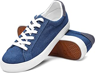 Mens Canvas Shoes Low Top Fashion Sneakers White Black...