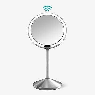 simplehuman 5 inch Sensor Mirror, Lighted Makeup Mirror, 10x Magnification
