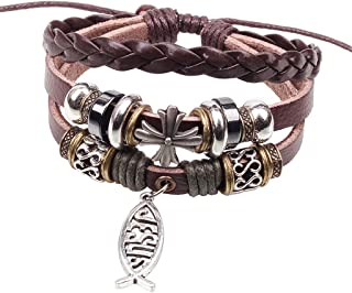 Best leather jesus bracelet Reviews