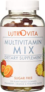 Lutrovita Sugar Free Multivitamin Gummy, Pineapple, Orange, Strawberry, 200 Count