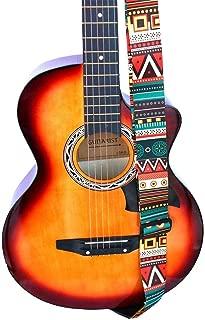 Rock n Roll de poli/éster 2/mm de grueso con extremos de piel sint/ética y variedad dise/ños de imagen impresi/ón en color Correa de guitarra Punk