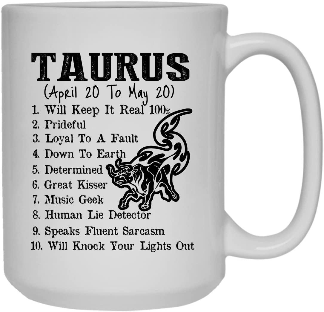 Amazon Com Cool Taurus Zodiac Mug Coffee Mug Design 15 Oz Kitchen Dining