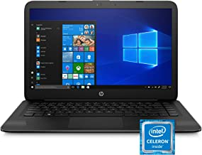 HP Stream 14-inch Laptop, Intel Celeron N4000, 4 GB RAM, 64 GB eMMC, Windows 10 Home in S Mode...
