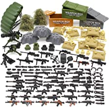 Feleph Military Army Weapons Toy Guns and Gear Accessories Building Blocks Toys Sets WW2 SWAT Custom Figure Modern Assault Equipment Pack DIY Gift for Boys Bricks