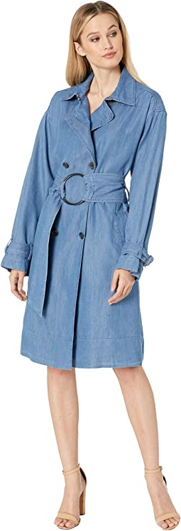 Chambray Trench Coat