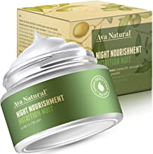 All Natural Night Cream Face Moisturizer - Vegan Anti Aging Safe Night Time Dark Spot Corrector and Cruelty Free Anti Wrinkle Facial Cream for Dry Skin