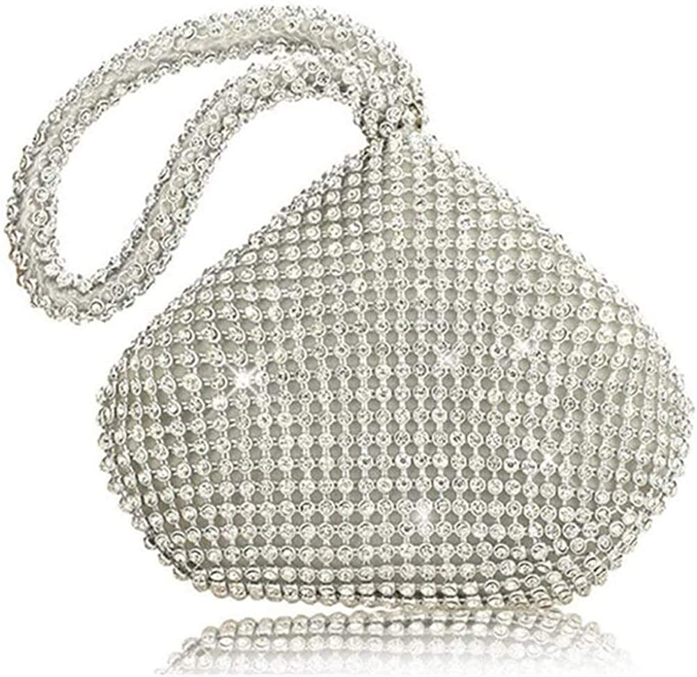 TOPCHANCES Women's Max 58% OFF Triangle Bling Clutch Handbags Purses Rh and Credence