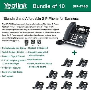 Yealink SIP-T42G 3-Line Ultra-Elegant Gigabit IP Phone (10-Pack)