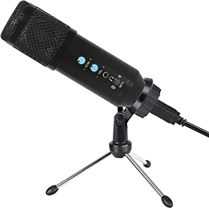 2021 Upgraded USB Microphone for Computer, Mic for Gaming, Podcast, LiveStreaming, YouTube Recording, Karaoke on PC, Plug & Play, with Adjustable Metal Tripod Stand, for Windows macOS, Ideal for Gift